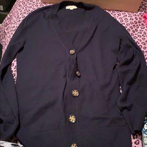 Tory Burch navy blue sweater